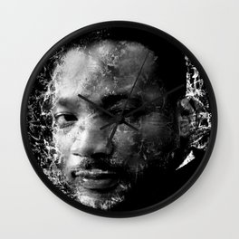 MARTIN LUTHER KING (BLACK & WHITE VERSION) Wall Clock