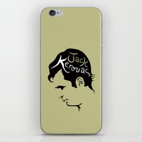 kerouac iPhone & iPod Skins featuring Jack Kerouac by lucylovesthis