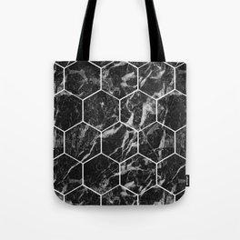 Black Campari marble - hexagons Tote Bag