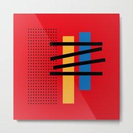 Abstract Geometric Minimal Net and Stairway Metal Print