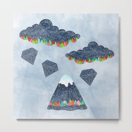 Raining Diamonds Metal Print