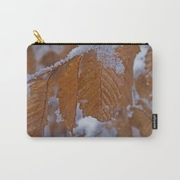 snow and leaves Carry-All Pouch