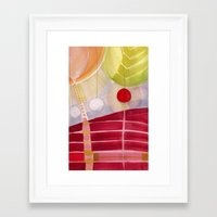 lanterns Framed Art Prints featuring lanterns by angela deal meanix