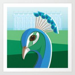 Stately Peacock Art Print