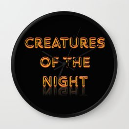 Creatures of the Night Wall Clock