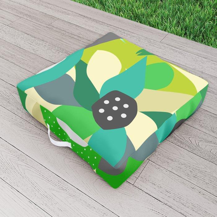 Bright tropical vibe Outdoor Floor Cushion
