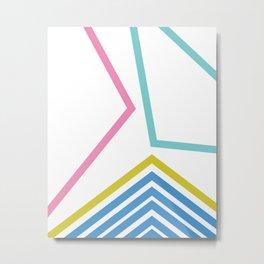 Fun Abstract Geometry Throwback Art Metal Print