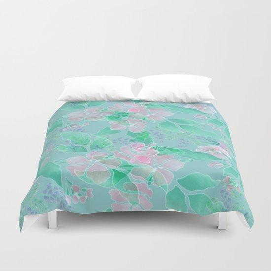 Soft Spring Floral Duvet Cover
