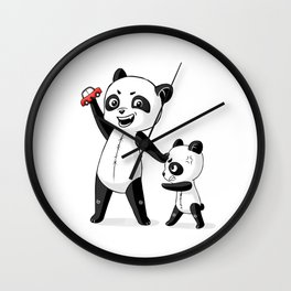 Panda Brothers Wall Clock