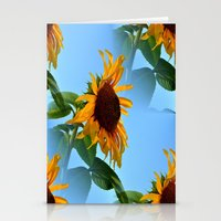 sunflowers Stationery Cards featuring Sunflowers by Sartoris ART