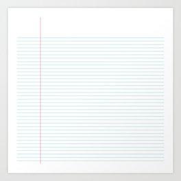 Notepaper Art Print