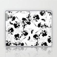 Hydranga pattern  - black and white Laptop & iPad Skin