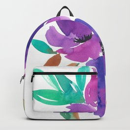 Purple Floral Divinity Backpack