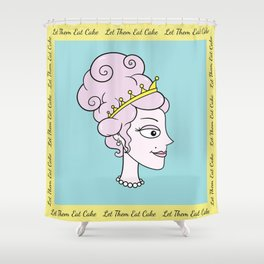 Let Them Eat Cake (blue with yellow border) by Blissikins  Shower Curtain