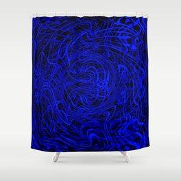 blue swirls Shower Curtain