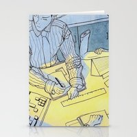 the office Stationery Cards featuring office hand by sydneymadisonqueen