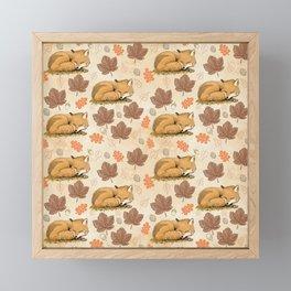 Lying fox pattern Framed Mini Art Print