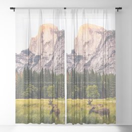 Mountain National Park Sheer Curtain