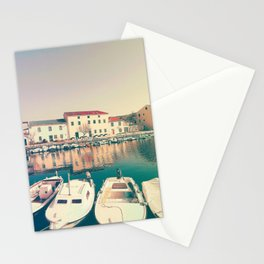 The Port Of Vinjerac, Croatia Stationery Cards