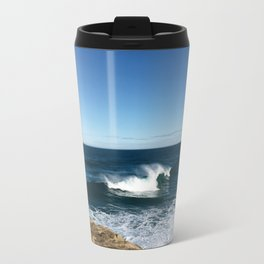 New Zealand Beach Wave Travel Mug