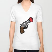 banksy V-neck T-shirts featuring Pop Icon - Banksy by Greg Guillemin