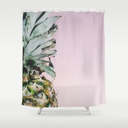Pink Pineapple Shower Curtain