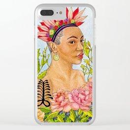 Portrait of Queen Calafia Clear iPhone Case