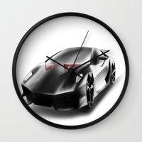 lamborghini Wall Clocks featuring Just a Lamborghini by Ispas Sorin