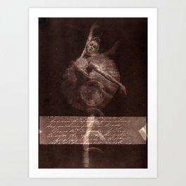 Ballerina IV (brown edition) Art Print