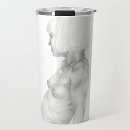 Nude in graphite Travel Mug