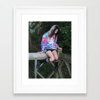 melissa smith Framed Art Prints featuring Melissa by Ryan Gillings
