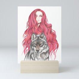 Fire Woman Mini Art Print