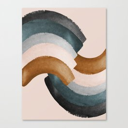 Brushstroke rainbows Canvas Print
