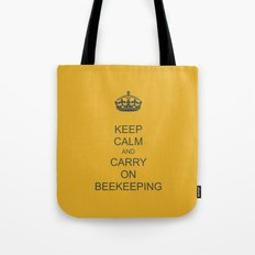 Keep Calm and Carry on Beekeeping Tote Bag