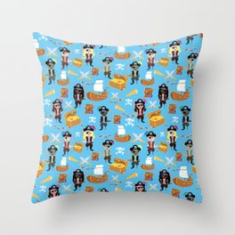 Ahoy Matey! Kids Pirate Treasure Hunt Throw Pillow