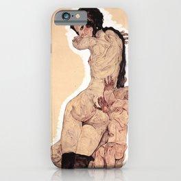 Egon Schiele - Woman with Homunculus iPhone Case