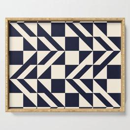 Seamless monochrome geometry pattern. Serving Tray