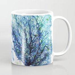 Fan Coral - Aqua Coffee Mug