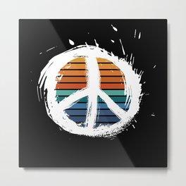 Non Violence Peace Symbol Metal Print