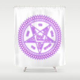 Sebastian Michaelis Sigil Light (white bg) Shower Curtain