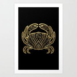 Cancer Gold Art Print