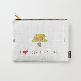 I love yoga girl Carry-All Pouch
