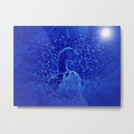 Oie dans les jardins de carrouges by GEN Z Metal Print