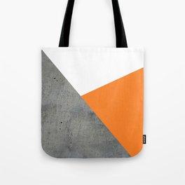 Concrete Tangerine White Tote Bag