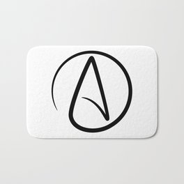 Atheism Symbol - Atheist Sign Bath Mat