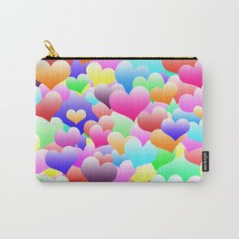 Bubble Hearts Dark Carry-All Pouch