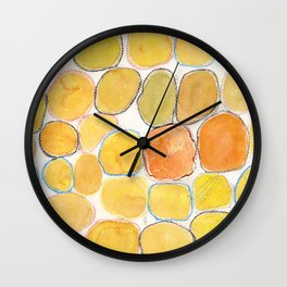 Cheerful orange Gathering Wall Clock