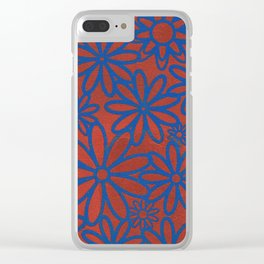Flower Patch Clear iPhone Case