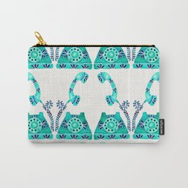 Vintage Rotary Phone – Turquoise Palette Carry-All Pouch