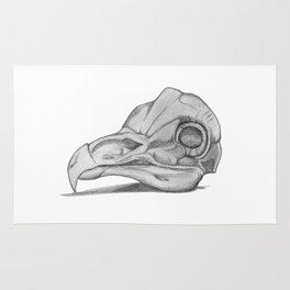 Barn Owl Skull Rug